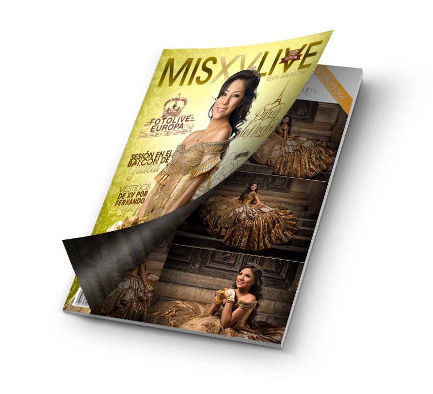 Magazine Mockup Cover Opening misxvlive europa
